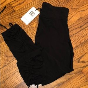 Black crop leggings. Size small